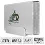 Fantom Drive GD2000U3 GreenDrive3 Aluminum External Hard Drive - 2TB