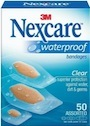 Nexcare Waterproof Clear Bandage Assorted Sizes