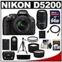 Nikon D5200 Digital SLR Camera two lens kit