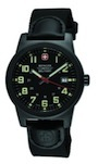 Wenger Swiss Military Men's Classic Field Black Dial Canvas Leather Military Watch